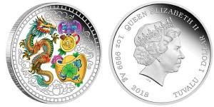 Цветная монета из